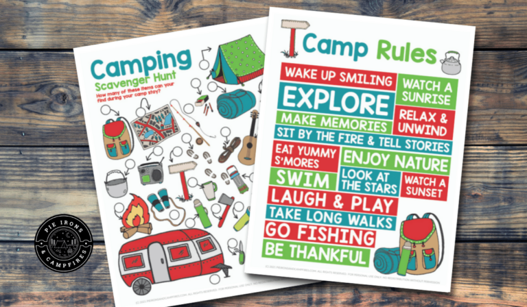 Free Printable Camping Scavenger Hunt for Kids + Camp Rules