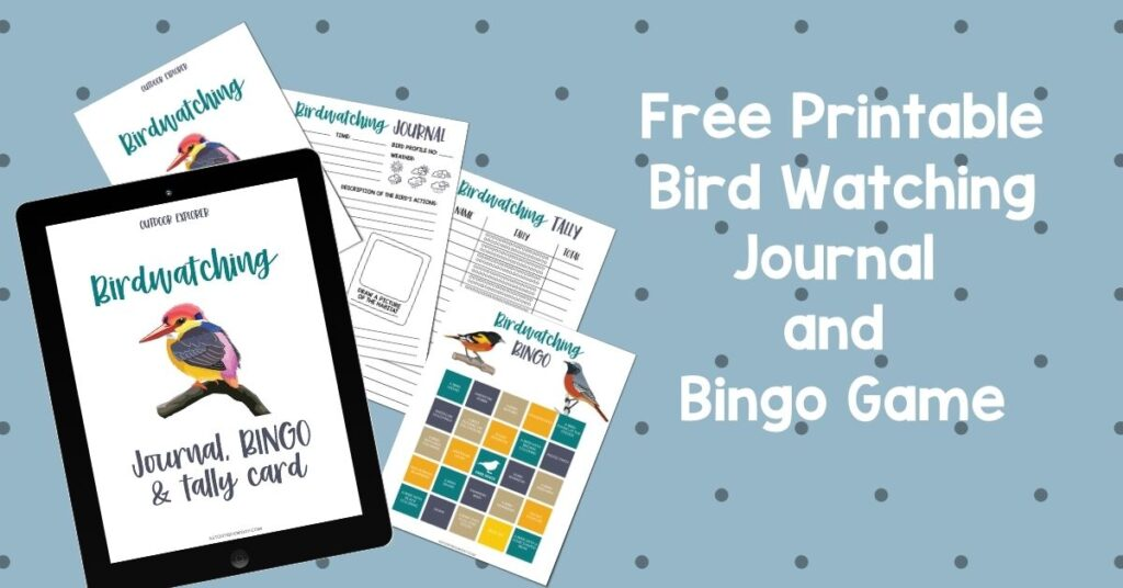 Free Printable Bird Watching Journal and Bingo Game @ PieIronsAndCampfires.com