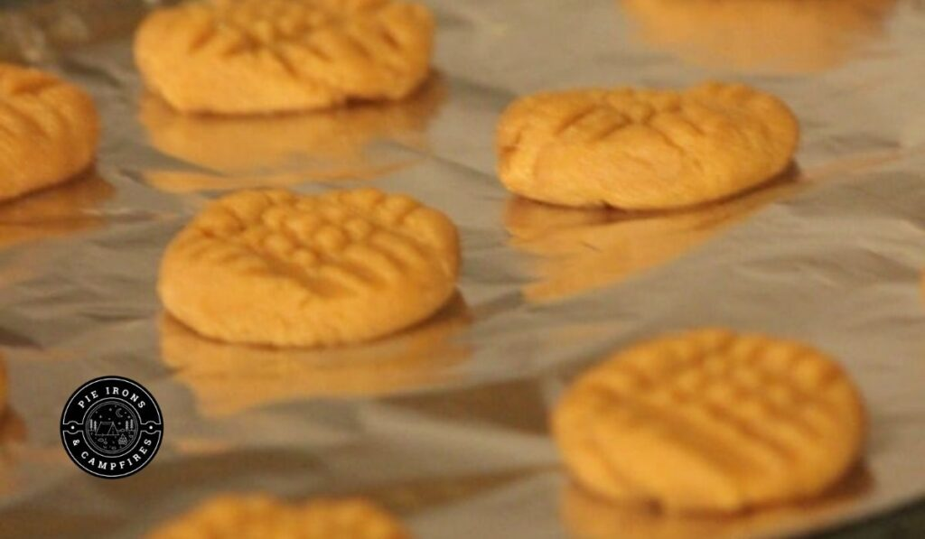 Cookies ready to bake for the recipe: Easy Peanut Butter Cookies for Camping @ PieIronsAndCampfires.com