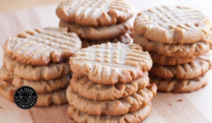 Easy Peanut Butter Cookies for Camping @ PieIronsAndCampfires.com