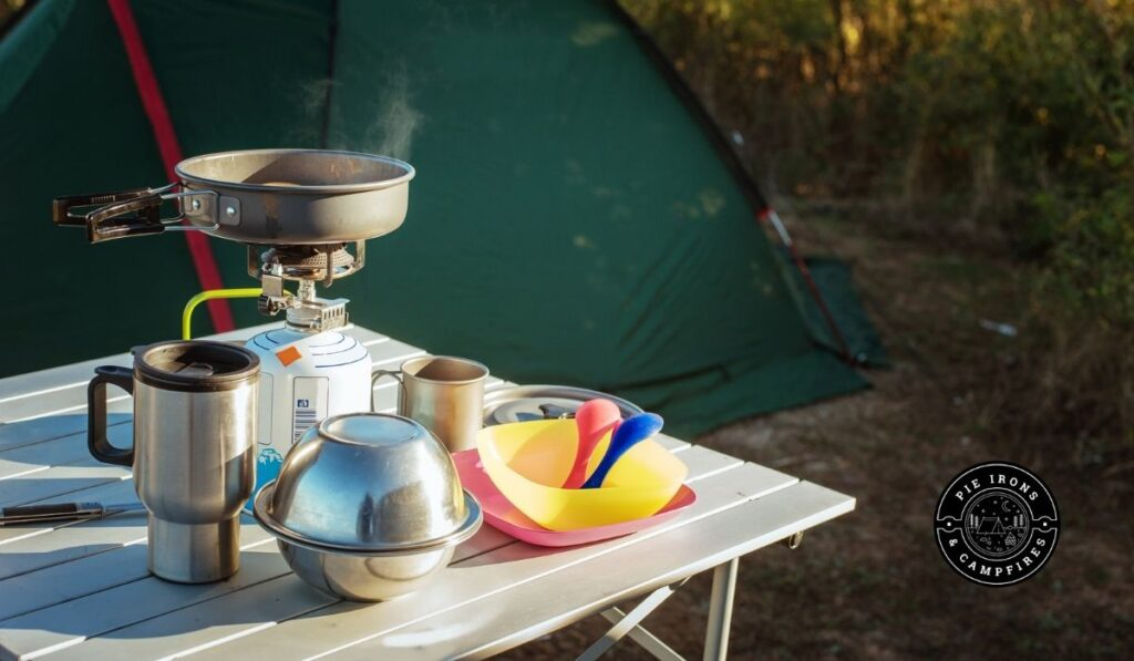 How to Do the Dishes While Camping @ Pie Irons and Campfires